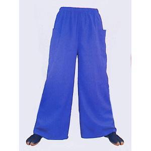 超ワイドパンツ(ブルー) まつり用ズボン よさこい衣裳 舞台 ステージ 踊り用ゆったりパンツ 祭りボトムス 祭り用品 祭り衣装|kameya