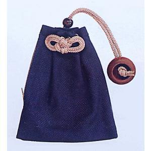 巾着 袋 バッグ ポーチ きんちゃく 祭り 巾着袋 刺子 ファスナー 藍色|kameya