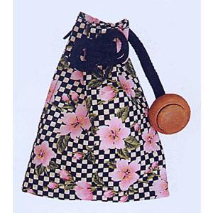巾着 袋 バッグ ポーチ きんちゃく 祭り 巾着袋 ファスナー 市松 桜|kameya