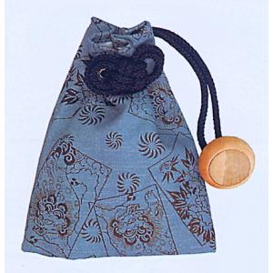 巾着 袋 バッグ ポーチ きんちゃく 祭り 巾着袋 ファスナー 水色 唐獅子牡丹|kameya