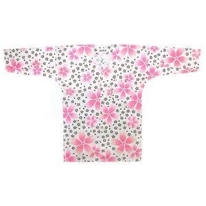 鯉口シャツ 祭り ダボシャツ メンズ レディース 白地 桜 鯉口シャツ 祭り用品|kameya