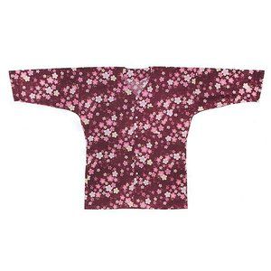 鯉口シャツ 祭り ダボシャツ メンズ レディース エンジ地 桜 鯉口シャツ 祭り用品|kameya