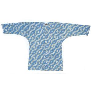 鯉口シャツ 祭り ダボシャツ メンズ レディース 絞り 水色 立涌 鯉口シャツ 祭り用品|kameya