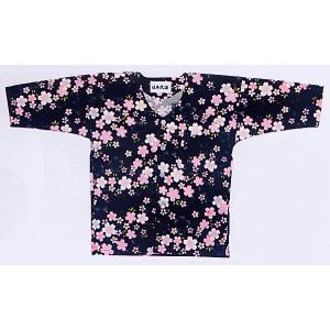 鯉口シャツ 祭り 子供用 祭シャツ ダボ シャツ 鯉口 子ども 桜 踊り 祭り用品|kameya