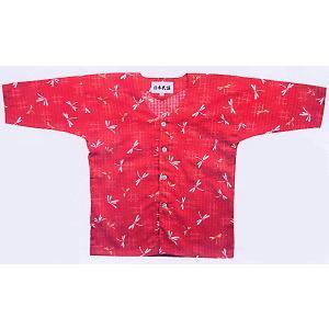 鯉口シャツ 祭り 子供用 祭シャツ ダボ シャツ 鯉口 子ども トンボ 踊り 祭り用品|kameya