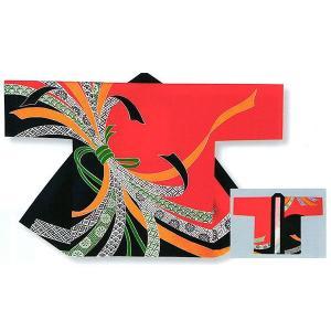 祭り 半纏 法被 はっぴ メンズ レディース 袢天 イベント 祭半纏 半天 本染め 赤 黒 束ね熨斗|kameya