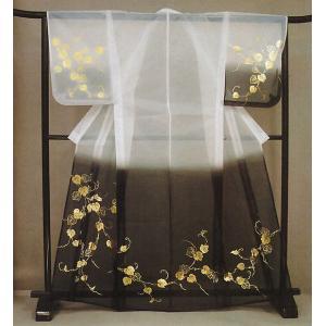 被衣(かつぎ・かずき) 黒ぼかし/蔦 踊り・舞台ステージ用衣被(きぬかつぎ・きぬかずき) 日本舞踊・歌舞伎用の被衣|kameya