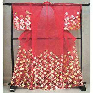 被衣(かつぎ・かずき) 赤/枝垂桜 踊り・舞台ステージ用衣被(きぬかつぎ・きぬかずき) 日本舞踊・歌舞伎用の被衣|kameya