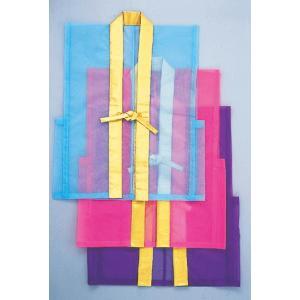 紗羽織(ナイロン・オーガンジー) 踊り・舞台ステージ用のレース無地羽織 紗編みの袖なしカラー半纏|kameya