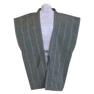 羽織 はおり 袖なし 肩裏付き メンズ レディース 袖無し羽織 旅館 ホテル 洗える着物|kameya