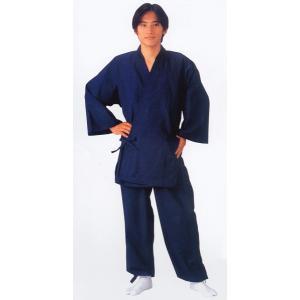 作務衣 メンズ レディース 綿紬 さむえ ユニフォーム コットン作務衣|kameya