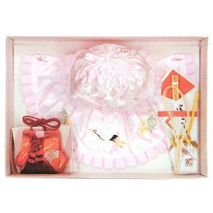 フードセット お宮参り 4点セット 出産祝い 赤ちゃん 女の子 女児 ベビー用品 ピンク|kameya
