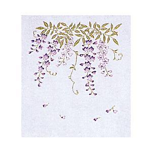 ガーゼハンカチ(藤・紫) 2重袷のガーゼハンカチ お手拭き 汗ふき プチギフト お年賀 粗品 ノベルティー用ハンカチ 和風はんかち|kameya