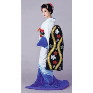 お 引きずり 着物 白 ブルー 水色ぼかし 裾引き 引き摺り おひきずり 洗える着物 納期45日 kameya
