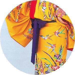締め帯 琉球舞踊衣装用 紫 沖縄舞踊衣裳の帯 紫長巾 踊り帯 舞台 ステージ帯 kameya