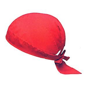 バンダナキャップ(赤無地) おしゃれな祭用布帽子 ヘアーキャップ 祭小物 まつり頭巾 祭り用品|kameya