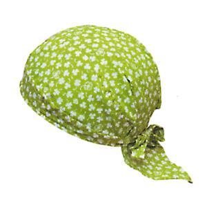 バンダナキャップ 帽子 バンダナ 祭り キャップ 黄緑 クローバー 制服 祭り用品|kameya