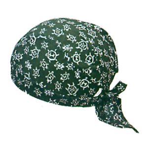バンダナキャップ(緑/カメ) おしゃれな祭用布帽子 ヘアーキャップ 祭小物 まつり頭巾 祭り用品|kameya