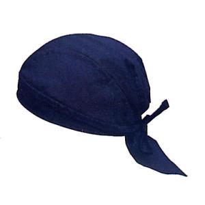 バンダナキャップ(紺無地) おしゃれな祭用布帽子 ヘアーキャップ 祭小物 まつり頭巾 祭り用品|kameya