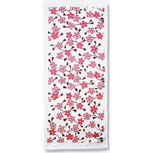 ガーゼタオル フェイスタオル プチギフト 粗品 和風 ハンドタオル 白 枝桜|kameya