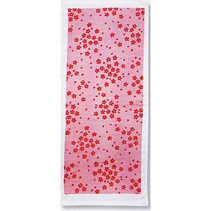 ガーゼタオル フェイスタオル プチギフト 粗品 和風 ハンドタオル ピンク 桜|kameya