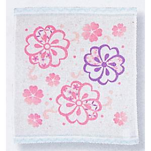 スパードライハンカチ(桜) お手拭き 汗ふき プチギフト お年賀 粗品 ノベルティー用ハンカチ 和風はんかち|kameya