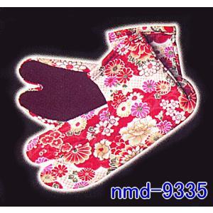 足袋 ソックス 靴下 足袋靴下 柄足袋 ソックス足袋 着物 和風 赤 花|kameya