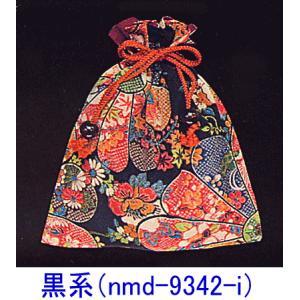 和柄巾着袋(ウッドビーズ付)|kameya