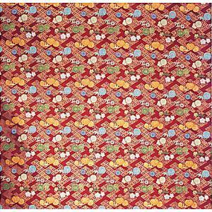 カット生地(茜・四君子) 幅70cm×1m単位でカット販売 踊り衣裳 祭り小物用カットクロス お人形 お飾り 巾着 ポーチなどの手芸材料|kameya
