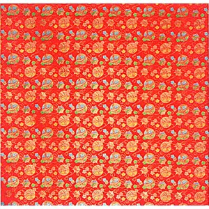 カット生地(緋色・毬) 幅70cm×1m単位でカット販売 踊り衣裳 祭り小物用カットクロス お人形 お飾り 巾着 ポーチなどの手芸材料|kameya