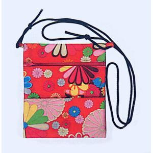 ポシェット 和風 まつり ミニ バッグ 祭りポシェット 赤地 菊柄|kameya