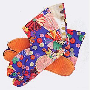 足袋 祭り たび 祭足袋 地下足袋 祭り足袋 カラフル 青 菊 5枚鞐 7枚鞐 まつり 祭り用品|kameya