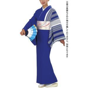 女物仕立上り踊りキモノ(単衣・ちりめん・群青色・矢鱈縞) 絵羽着物 踊り・舞台・パーティー用きもの 洗える着物|kameya