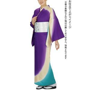 訪問着の反物(綸光・紫) 絵羽着物 踊り・舞台・パーティー用訪問着 洗える着物反物|kameya