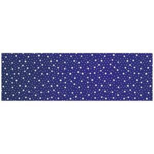 注染本染め長尺手拭い(長さ113cm・花吹雪・紺紫) 表裏とも柄が鮮明 高級注染手ぬぐい 祭り 踊り手拭い お年賀 ノベルティー インテリア用布巾|kameya