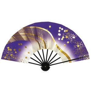 舞扇子 舞踊 扇子 舞扇 踊り 祭り 日本舞踊 日舞 黒骨 紫 ぼかし 天の川 箱付 kz kameya