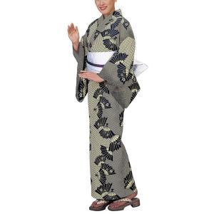 浴衣 ゆかた 反物 レディース メンズ キング幅 盆踊り 祭り ユカタ 踊り浴衣 木綿 扇子 格子|kameya