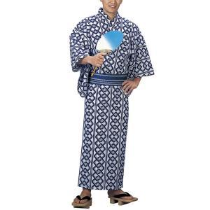 浴衣 ゆかた メンズ 男物 キング幅 盆踊り 祭り ユカタ 踊り イベント レトロ浴衣 吉原つなぎ kz-M kameya