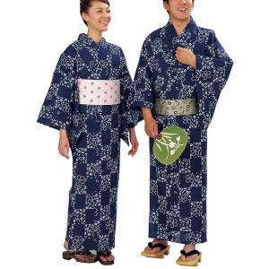 浴衣 ゆかた レディース メンズ キング幅 盆踊り 祭り ユカタ 踊り イベント レトロ浴衣 市松 桜|kameya