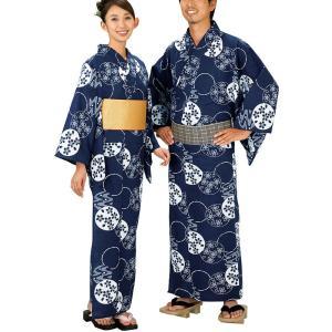 浴衣 ゆかた レディース メンズ キング幅 盆踊り 祭り ユカタ 踊り イベント レトロ浴衣 円 桜 kameya