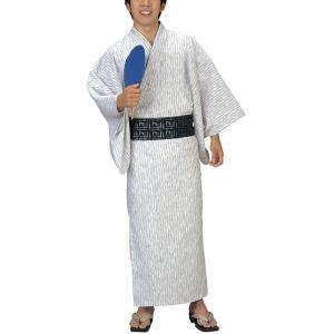 浴衣 ゆかた メンズ 男物 盆踊り 祭り ユカタ 踊り イベント レトロ浴衣 大名縞|kameya