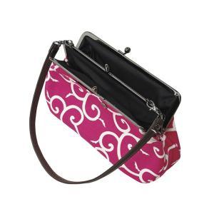 バッグ ポーチ がま口型バッグ 紐付き 和風 レトロ がま口ポーチ ハンドバッグ|kameya