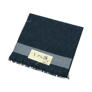 着物 反物 男物 メンズ キング幅 綿 麻 ちぢみ織 しじら織 夏用 着物反物 日本製 紺|kameya