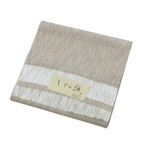 着物 反物 男物 メンズ キング幅 綿 麻 ちぢみ織 しじら織 夏用 着物反物 日本製 ベージュ|kameya