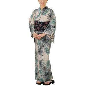 浴衣 ゆかた 反物 レディース 女物 盆踊り 祭り ユカタ 踊り浴衣 綿 絽 注染 菊|kameya