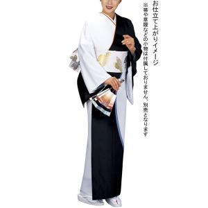 訪問着 着物 反物 女性 男性 踊り 絵羽 訪問着 黒 白ツートン 洗える着物|kameya