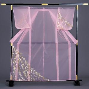 被衣 かつぎ かずき 踊り 衣被 きぬ かつぎ 日本舞踊 歌舞伎 ピンク 枝垂れ桜 金箔|kameya