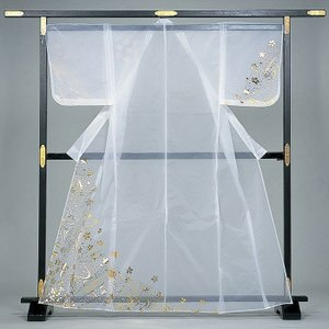 被衣 かつぎ かずき 踊り 衣被 きぬ かつぎ 日本舞踊 歌舞伎 白 流水 桜 金箔|kameya