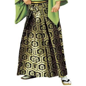袴 メンズ レディース 馬乗り はかま 成人式 踊り 金襴 袴 日本製 金 黒 亀甲|kameya
