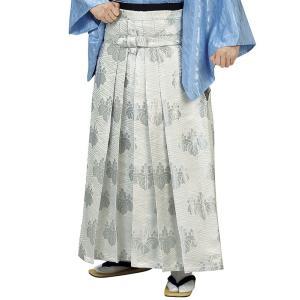 袴 メンズ レディース 馬乗り はかま 成人式 踊り 銀襴 袴 日本製 白 稲妻 桐|kameya